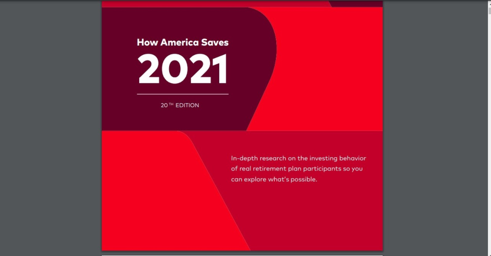 Cover page for Vanguard's How America Saves guide.