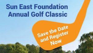 A graphic describing the Sun East Foundation Annual Golf Classic