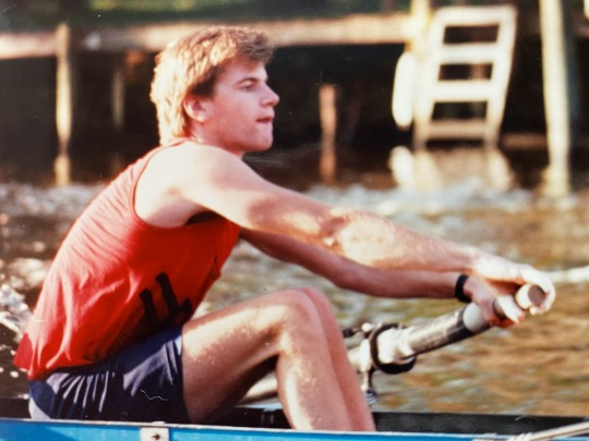 Bill McSwain at Yale rowing practice