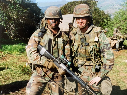Bill McSwain with his platoon sergeant.