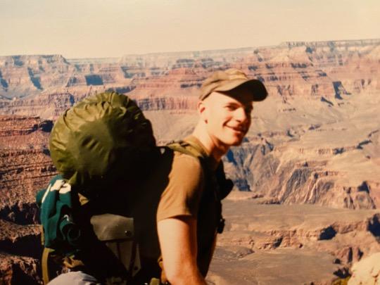 Bill McSwain hiking the Grand Canyon.