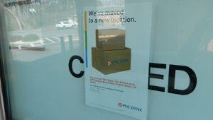 bank closure sign