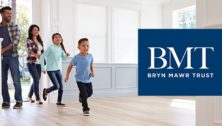 family enters new home