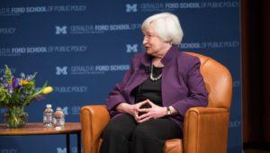Treasury Secretary Janet Yellen at the University of Michigan.