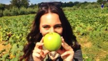 apple picker at Highland Orchard