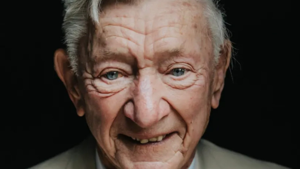man with wrinkled face